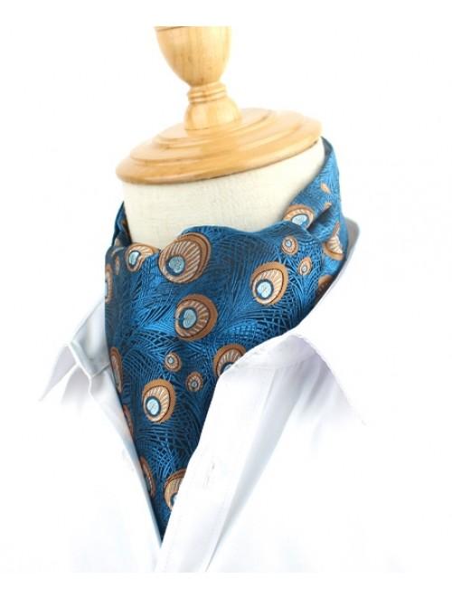 Blue Peacock Design Cravat
