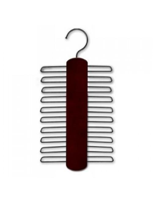 Wooden Necktie Hanger, Dark Brown