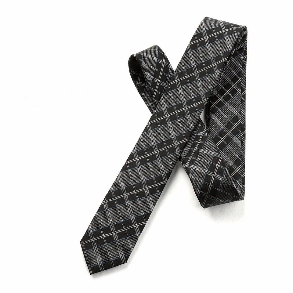 Plaid, Black/Dark Grey Including Pocket Square