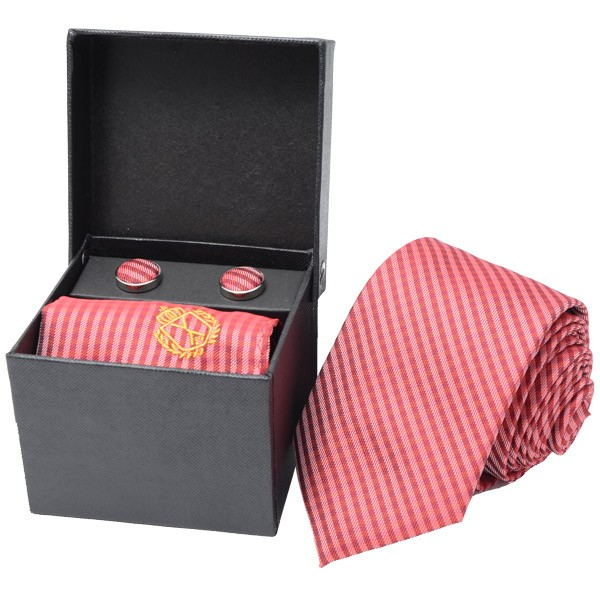 Combo -Foulard, Red Bricks Including Pocket Square