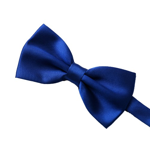Elegant Solid Bow Tie, Electric Blue
