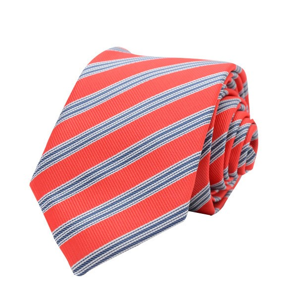 Regimental Stripe, Red/Blue Including Pocket Square
