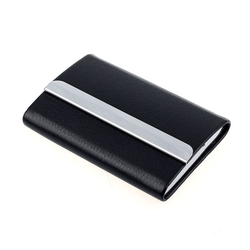 Black Leather Visting Card Holder