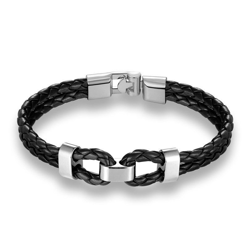 Black Anchor Knots WristBand