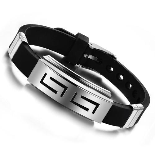 Funky Rubber Strap Cuffed Wristband
