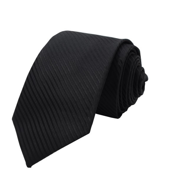 Self Stripes, Black Including Pocket Square