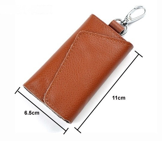 Genuine Brown Leather Key Holder Wallet