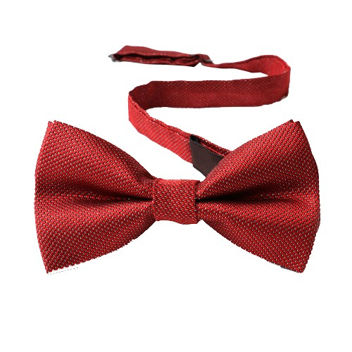 Classy Self Designed Bow Tie, Maroonish Red