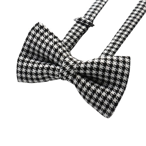 Stylish Check Bow Tie, Black/White