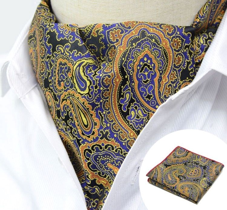 MULTICOLOR MOGUL DESIGN CRAVAT