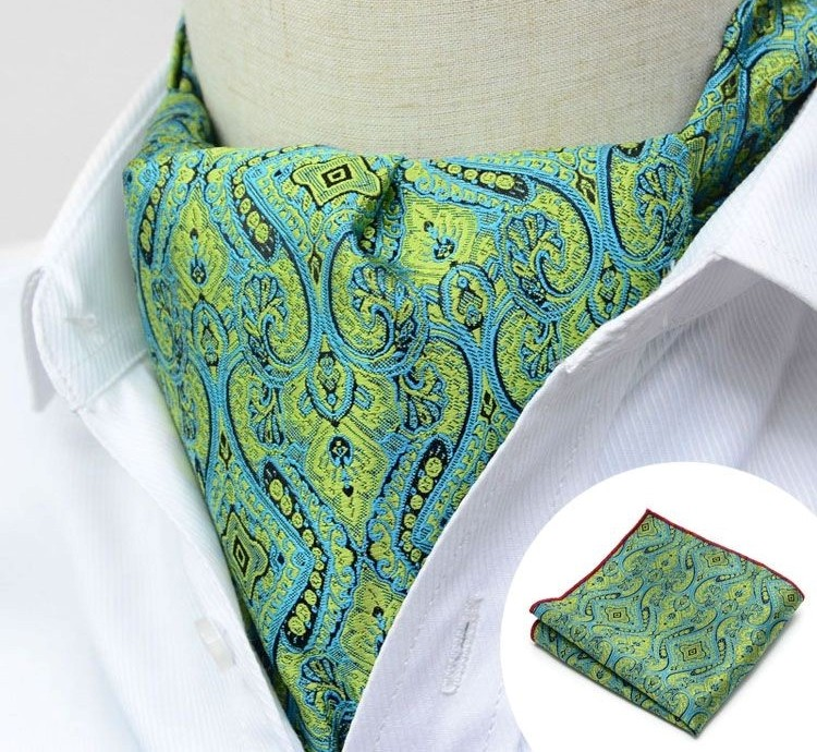 ICE GREEN MOTIF DESIGN CRAVAT