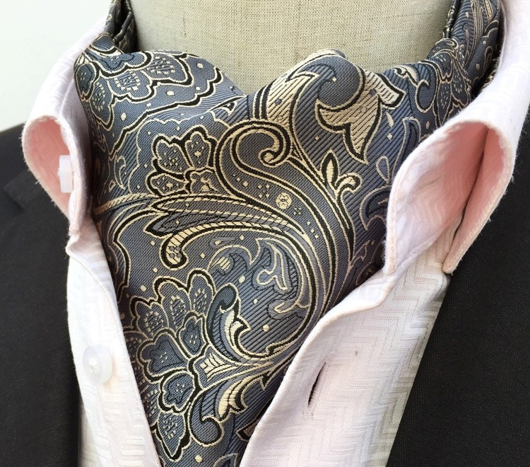 GREY DAFFODIL DESIGN CRAVAT