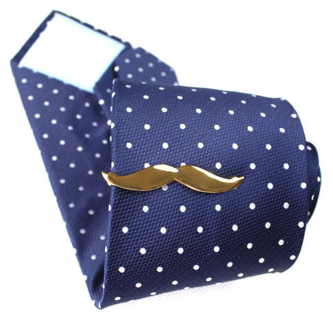 Black Moustache Tie Pin