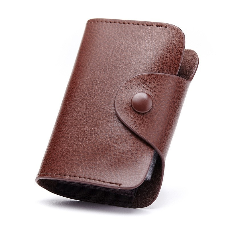 Genuine  Brown Leather Credit Card Holder
