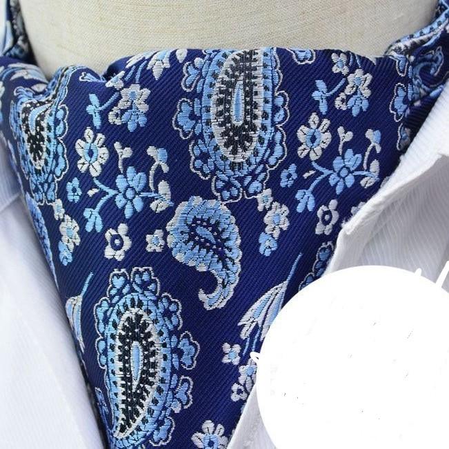 Paisley Cravat, Blue