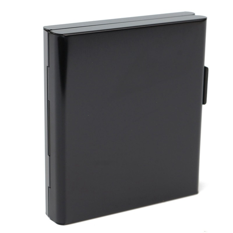 Black Aluminum Cigratte Case Holder