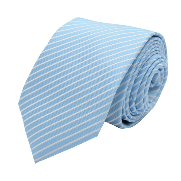 Self Stripes, Light Blue/White Including Pocket Square