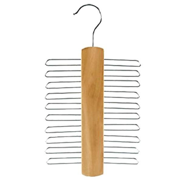 Wooden Necktie Hangers, Beige